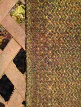 Brown saddle blanket detail